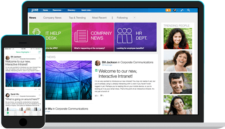 Jive-n Social Intranet on Mobile and Desktop - Enterprise Collaboration Software